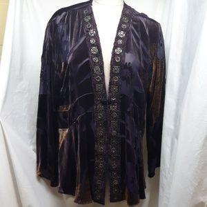 Chico's Velvet/Sheer Women's Jacket